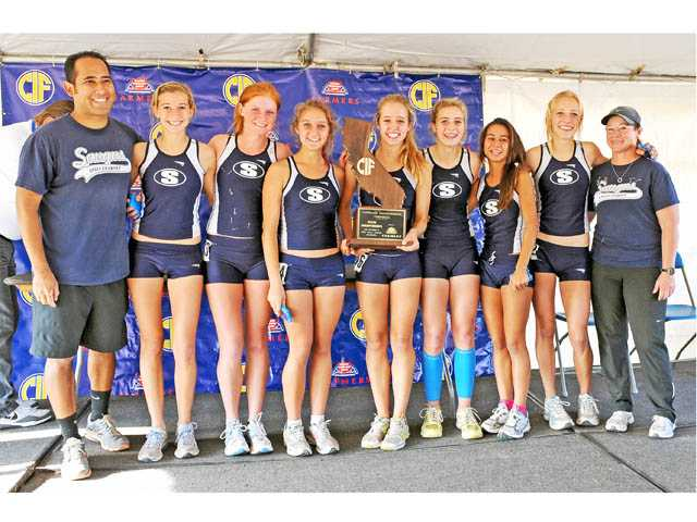 The 2011 state champion Saugus girls cross country team.