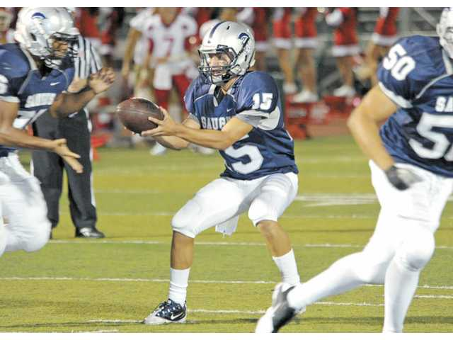 Saugus quarterback Jared Carbajal led the team to an eventual co-Foothill League championship.