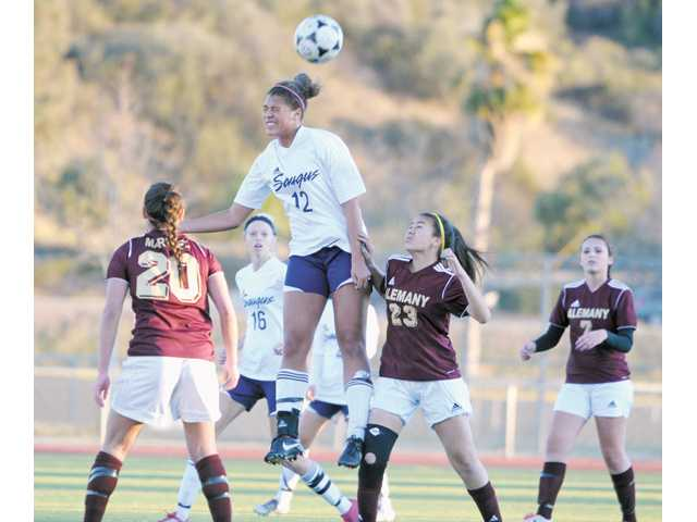 Saugus soccer player Angie Weiner.