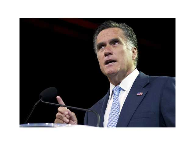 Republican presidential candidate, former Massachusetts Gov. Mitt Romney speaks in Houston, Texas. President Barack Obama and Republican rival Mitt Romney's campaigns traded accusations of lying Thursday