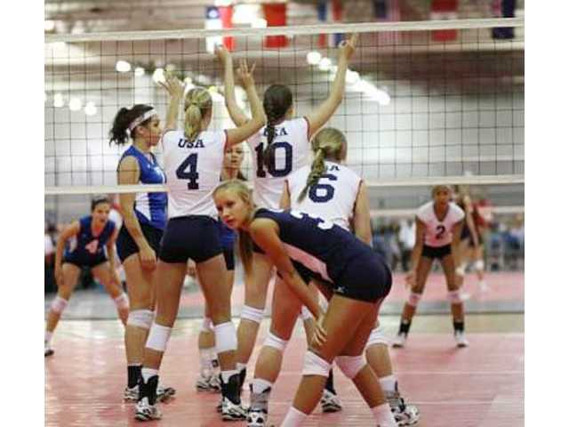 West Ranch's Hailey Lindcompetes fo the USA Youth National girls volleyball team.