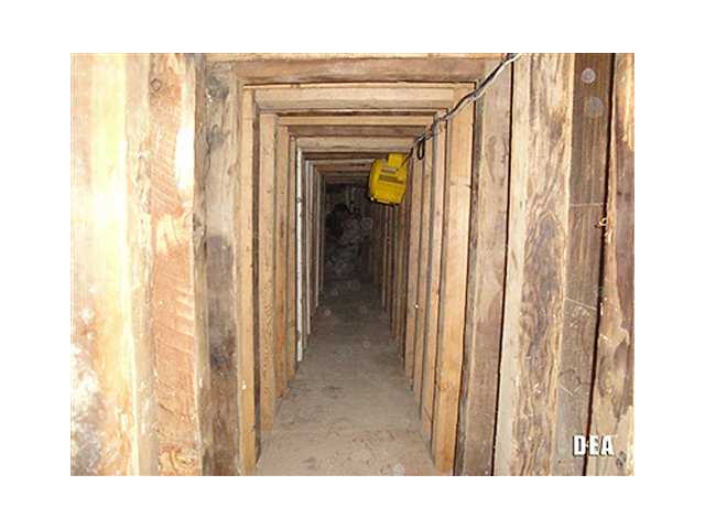 A 240-yard, a complete and fully operational drug smuggling tunnel, from the U.S. side of the tunnel.