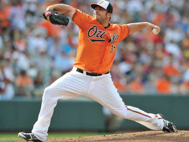 The Baltimore Orioles designated College of the Canyons product Dana Eveland for assignment on Saturday.