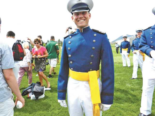 Lieutenant Brendan Taylor in his graduation uniform from the USAF Academy.
