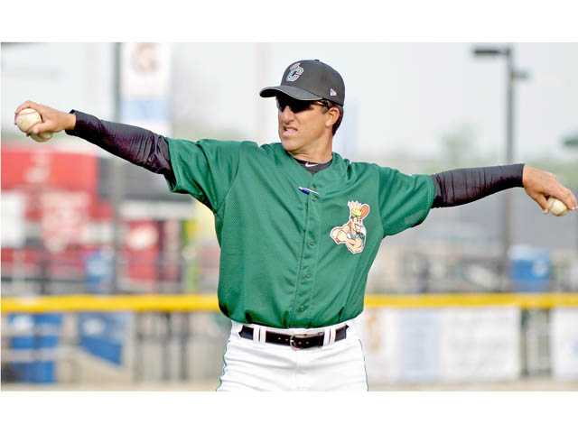 Andrew Lorraine, a Hart High graduate, is Corrales' pitching coach with the Single A Clinton City LumberKings.