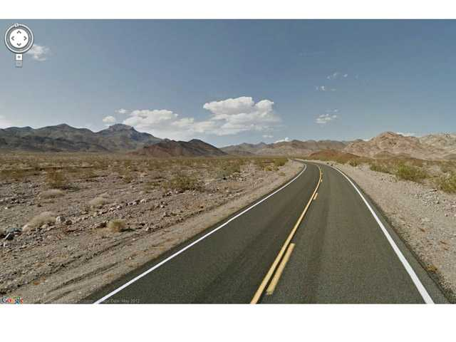 In this undated Street View image provided by Google is Death Valley National Park in California