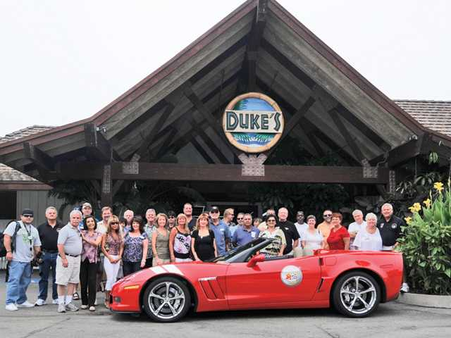 Members of the Santa Clarita Valley Corvette Club recently took a Saturday day-trip to the beach in Malibu where they enjoyed lunch at Duke's restaurant.