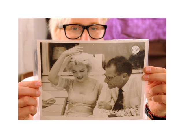 A photo of Marylin Monroe and Arthur Miller by the late celebrity photographer Milton H. Greene
