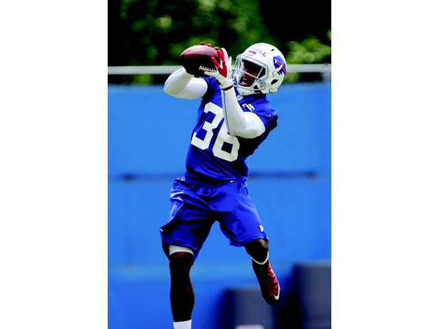Buffalo Bills defensive back and Hart High graduate Delano Howell during a practice in Orchard Park, N.Y. on Thursday.