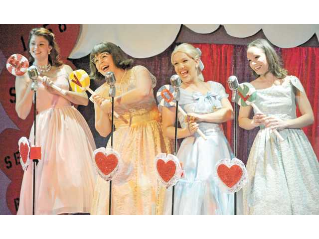 From left, Catherine Birdsong, Courtney Potter, Sarah Lang and Marie Wise-Hawkins as the Wonderettes.