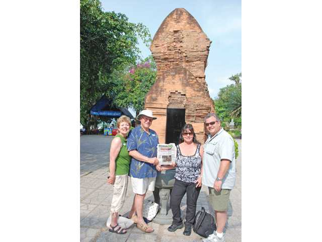 Santa Clarita residents Joyce Modugno, Pat J. Modugno, Pat Green and Doug Green visit the Ponagar Cham Towers in Nha Trang, Vietnam, on March 20.