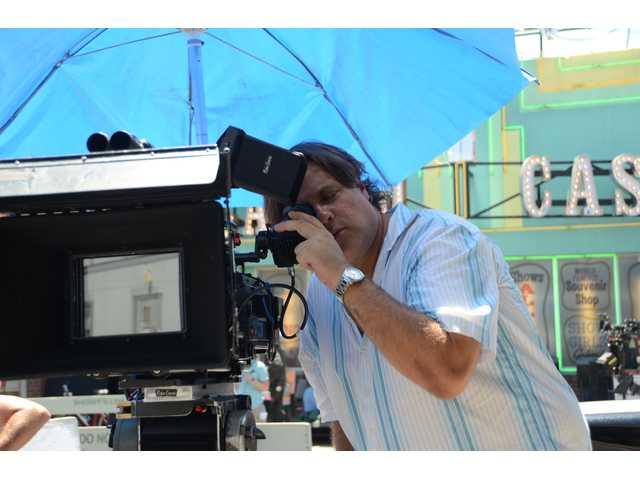 Mark Intravartolo, Encore employee and Santa Clarita resident, checks settings for Encore's visual effects work at the Santa Clarita Studios.