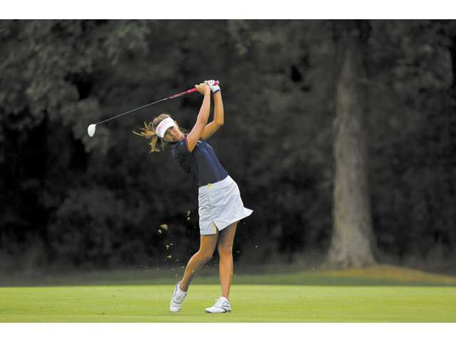 Valencia High's Alison Lee plays a shot during the first round of the 2012 U.S. Women's Amateur at The Country Club (Ohio) in Cleveland, Ohio, on Monday.