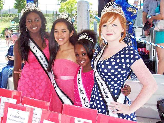 Miss SCV royalty, from left, Brooke Dawson,  Alexandria Salazar, Aaniyah Smith and Madison Summers.