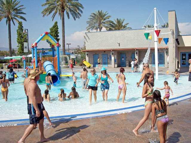 SCV Pool Party attendees at the Santa Clarita Aquatics Center.