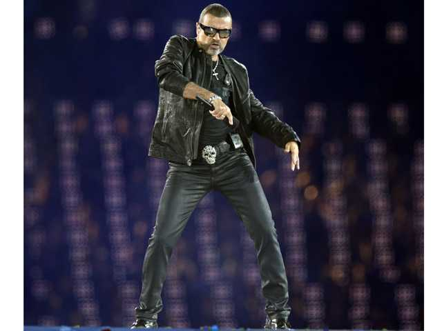 George Michael performs during the Closing Ceremony at the 2012 Summer Olympics on Sunday in London.