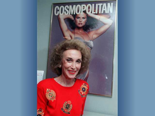 This 1990 file photo shows Cosmopolitan magazine editor Helen Gurley Brown in her New York office. Brown