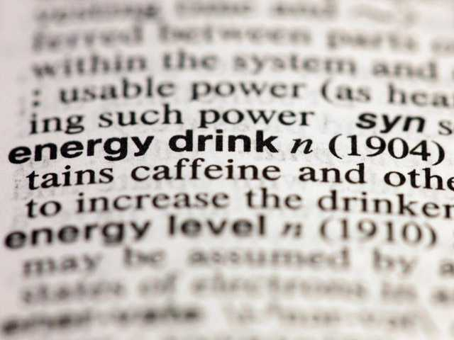 "The entry ""energy drink,"" photographed in New York, on Friday is one of about 100 new additions in the 11th edition of Merriam-Webster's Collegiate Dictionary."