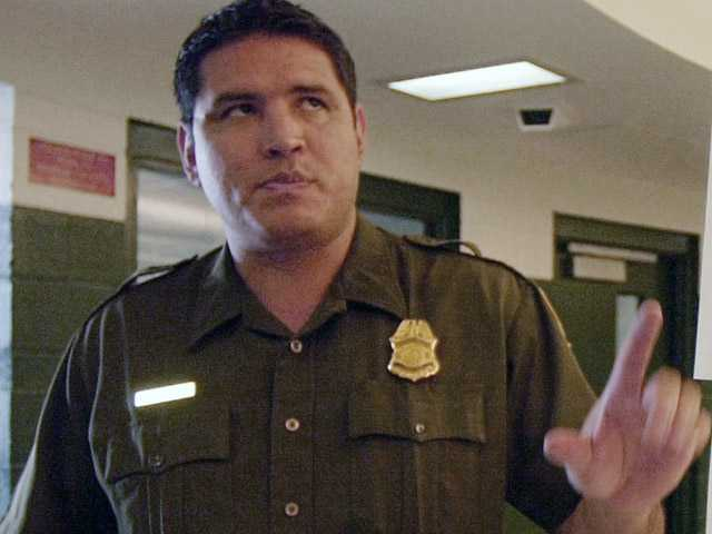 This June 5, 2002 file photo shows Border Patrol agent Raul Villarreal in San Diego. Raul and Fidel Villarreal were convicted, Friday Aug. 10, 2012 of charges that they brought illegal immigrants into the U.S. for money and received bribes by public officials, and counts of conspiracy to launder money.