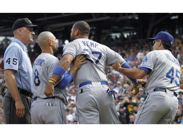 MLB: Dodgers leave Pittsburgh angry with rare loss