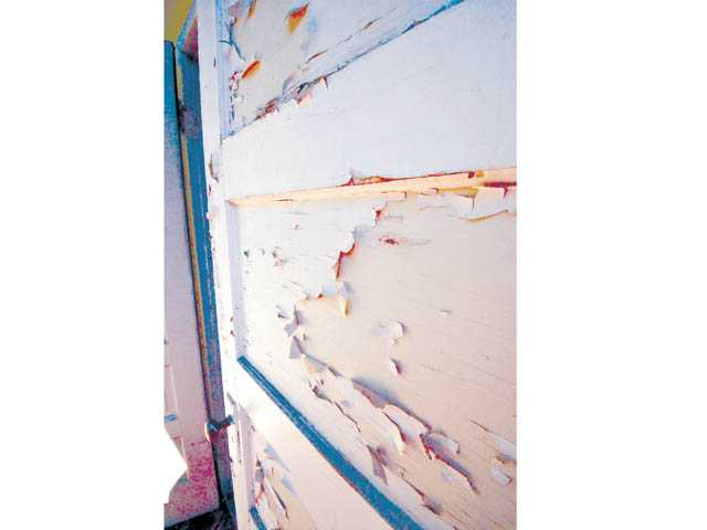 Paint that is badly peeling means moisture can get into the wood.