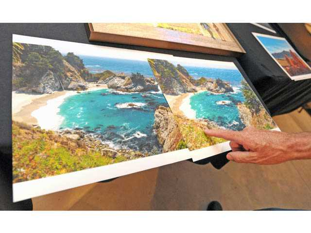 Bruce McFarland compares his photograph of Big Sur with a piece of digital art based on it.