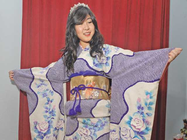 Mina Matsumoto, 18, of Castaic, is the third Miss Kimono Los Angeles selected by the Los Angeles Kimono Club. She was selected as the 2012 Miss Kimono L.A. on New Year's Day.