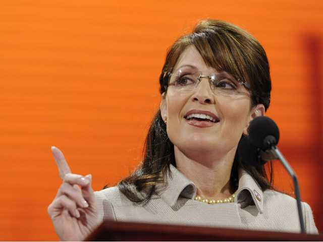 In this Sept. 3, 2008, photo, Republican vice presidential candidate, Alaska Gov. Sarah Palin, speaks during the Republican National Convention in St. Paul, Minn.