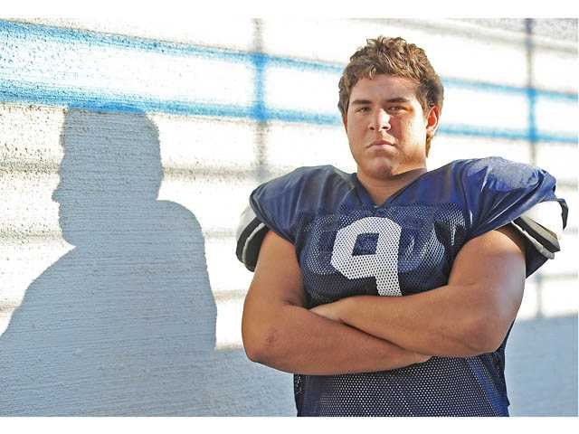 Saugus senior defensive tackle Denley Rodriguez, the younger brother of 2008 All-CIF player and All-Santa Clarita Valley and Foothill League Player of the Year Desi Rodriguez, was chosen as the Foothill League's Lineman of the Year in 2011.