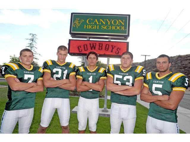 Canyon High School football players are trying to reload after the graduation of a few major players.