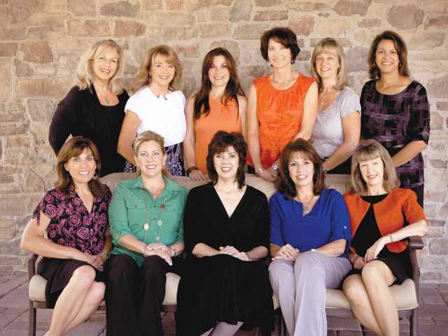 Soroptimist International of Greater SCV incoming board of directors, from top row left, Kris Hough, Pam Ingram, Jessica Miller, Karen Schnurr, Bonnie Stauch and Luana Minor, and from bottom row left,  Vanessa Wilk, Valerie Chase, Sue Reynolds, Laura Kirchhoff and Pam Oneby.