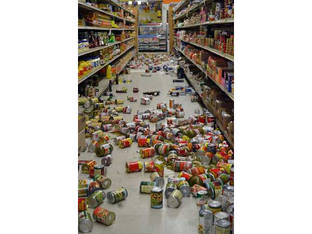 El Sol Market on Main Street in Brawley  was hit hard by the earthquakes that hit throughout Sunday.