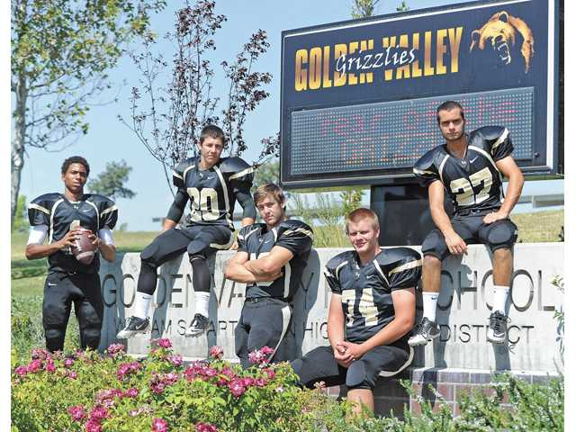 Golden Valley players from left, Chase Lewis, Michael Crossley, Chris Hamilton, Kyle Edwards and Ryan McNerney will play pivotal roles for a rebuilt Golden Valley team still looking for its first Foothill League win in school history. Is this finally the year?