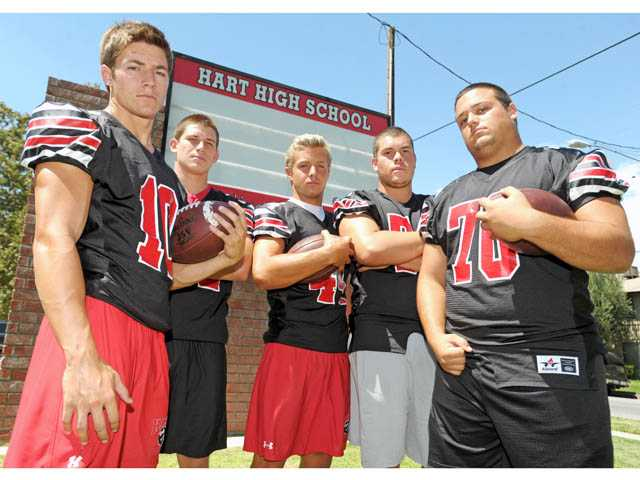 Hart is out to win its first Foothill League football title in five years, and maybe more than that.