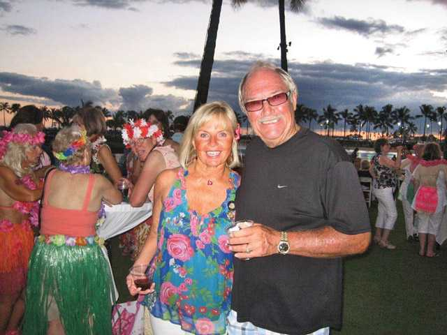 Cheri and Don Fleming relax in Hawaii after the installation of Cheri Fleming as president-elect at the biennial convention of Soroptimist International of the Americas.