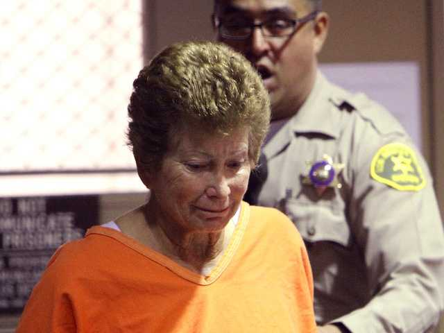 U.S. Open tennis umpire Lois Goodman pleads not guilty in a Van Nuys courtroom to stabbing her 80-year-old spouse to death Wednesday, Aug. 29.