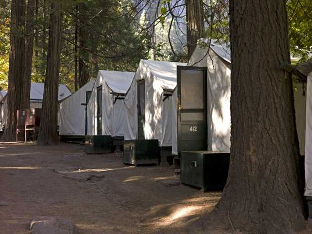 In this photo fromOct. 23, 2011, tents are seen in Curry Village in Yosemite National Park.