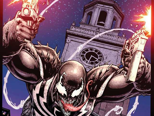 This comic book image released by Marvel Comics shows the Marvel anti-hero Venom