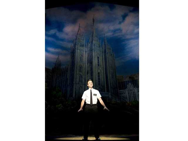 "Photo: Joan MarcusGavin Creel stars as Elder Price in ""The Book of Mormon"" at the Pantages Theatre in Hollywood. The show will play Sept. 5-Nov. 25."