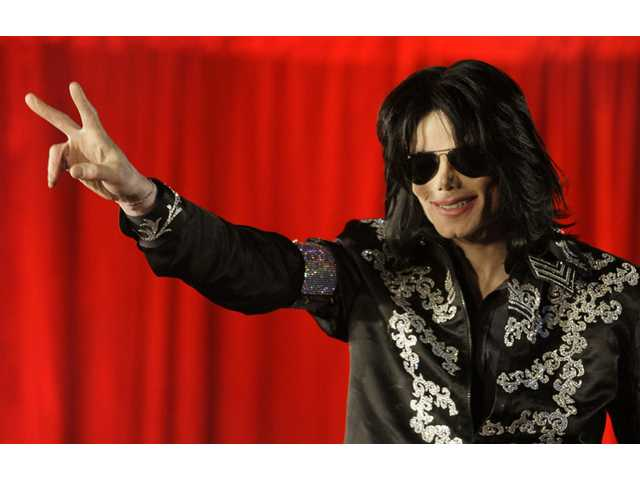 In this  2009 photo Michael Jackson announces that he is set to play ten live concerts at the London O2 Arena in July.