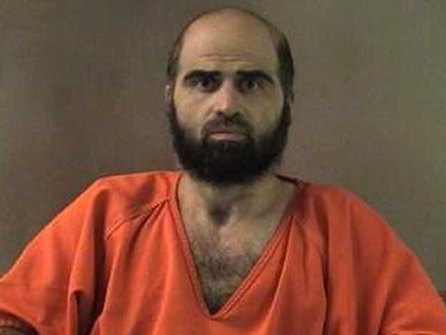 This photo provided by the Bell County Sheriff's Dept. shows Nidal Hasan, the Army psychiatrist charged in the deadly 2009 Fort Hood shooting. A military judge is expected to force a beard shaving for Hasan.
