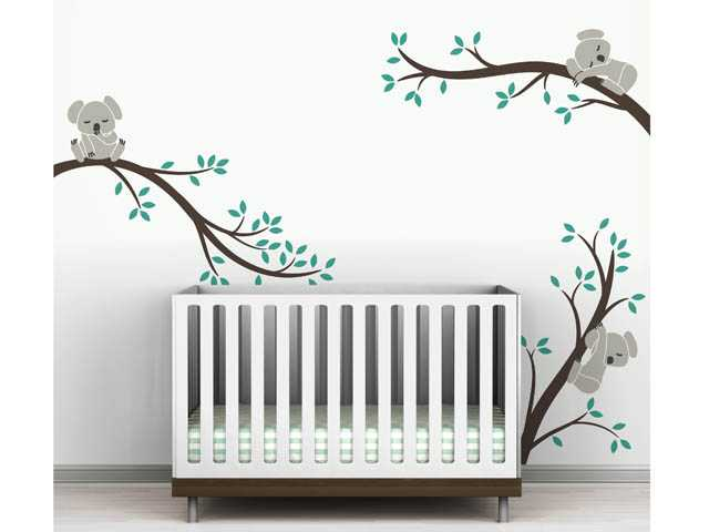 A Koala bear family decal from the Toronto-based LittleLion Studio. Kids are often enthralled by wild animals, so it's fun to do their rooms with animal-themed decor.