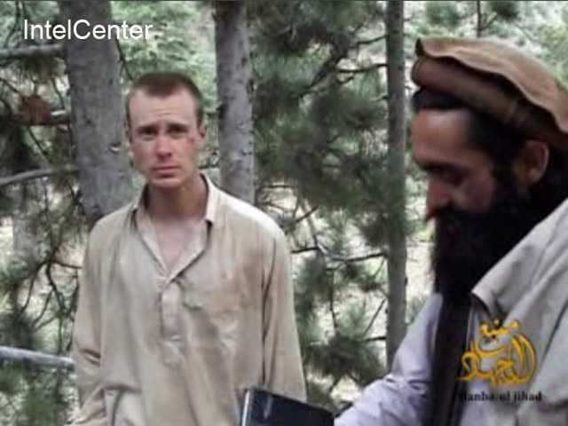 A man believed to be Sgt. Bowe Bergdahl, left.