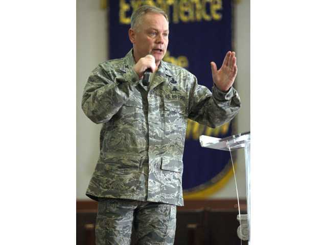 Col. Glenn Palmer, commander of the 737th Training Group at Lackland AFB. Palmer was relieved from his position in the wake of a widening sex scandal.