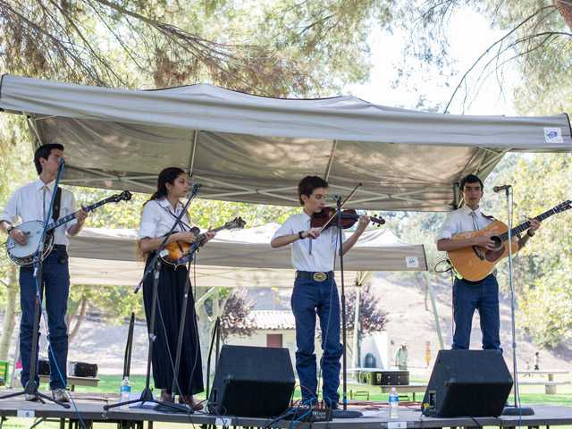 The Wimberley Bluegrass Band performs Saturday at William S. Hart Park in Newhall.