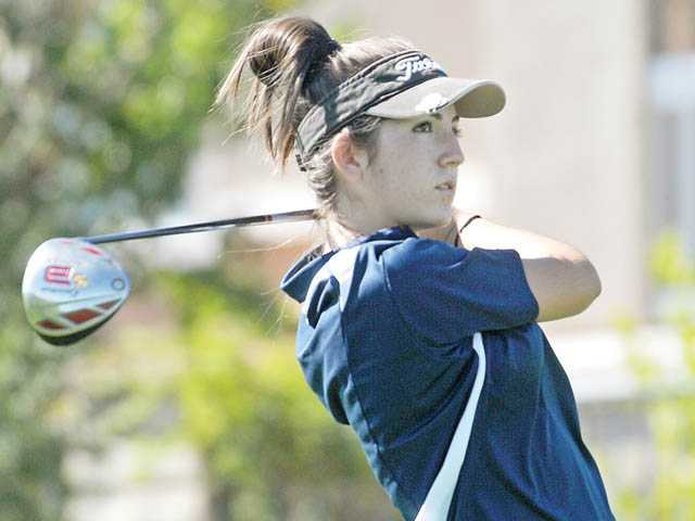 West Ranch sophomore Julie Ward finished third in the Foothill League last year as a freshman.