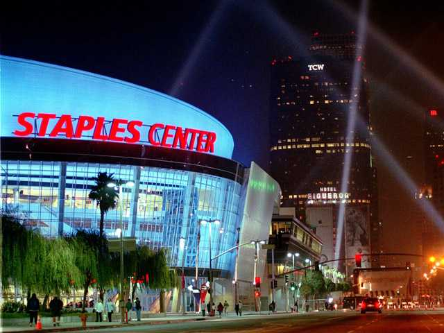 The owner of the Staples Center arena and the NHL's Los Angeles Kings is up for sale.