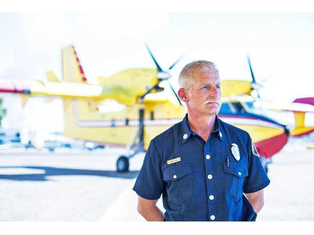 Capt. Jeff Britton oversees the county Fire Department's Van Nuys Fire Tanker Base, which is manned for several months during peak fire season. When not overseeing the base, he is captain of Fire Station 114 in Lake Los Angeles.