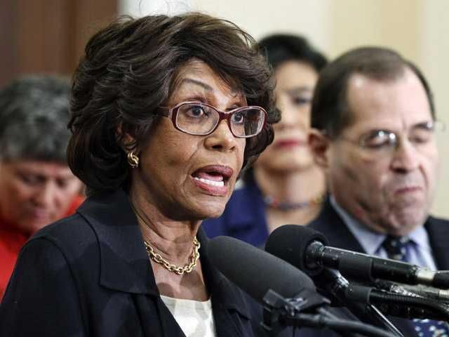In this Feb. 8, 2011 file photo, U.S. Rep. Maxine Waters, D-Calif., speaks during news conference on a Woman's Right to Choose on Capitol Hill in Washington. The House Ethics Committee will hold a hearing Friday,, in the case of Waters.