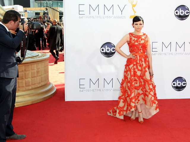 Actress Ginnifer Goodwin arrives at the 64th Primetime Emmy Awards at the Nokia Theatre on Sunday in Los Angeles.